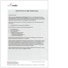 GMP-Zertifikat Werk II